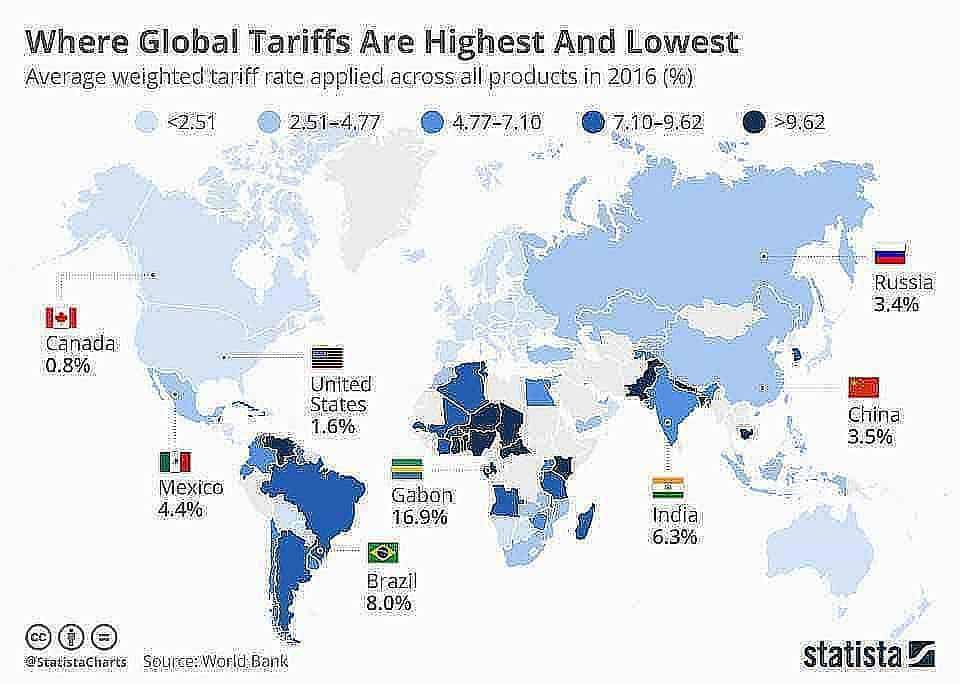 chartoftheday 13335 where global tariffs are highest and lowest n